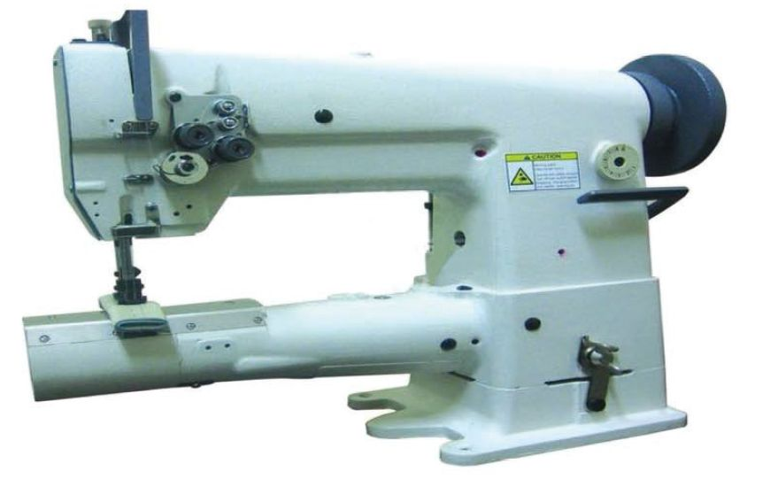 Double needle short arm sewing machine
